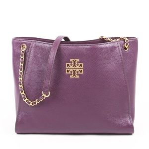 💜Tory Burch Britten Small Slouchy Tote NWT